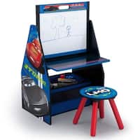 Disney/Pixar Cars Activity Center - Easel Desk with Stool & Toy Organizer - Multi