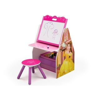 Disney Princess Activity Center - Easel Desk with Stool & Toy Organizer - Multi