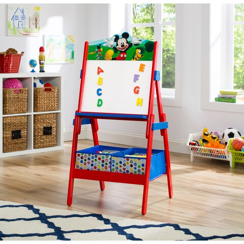 Disney Mickey Mouse Activity Easel with Dry Erase Board and Magnetic Letters - Multi