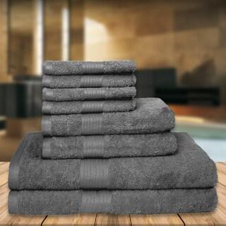 Premium Luxury Soft High Absobent Cotton 8-Piece Towel Set (2-bath, 2-hand, 4-wash)