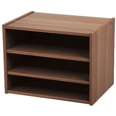 Iris Light Brown Wood Modular Storage Organizer Cube Box Free Shipping On Orders Over 45 17158926