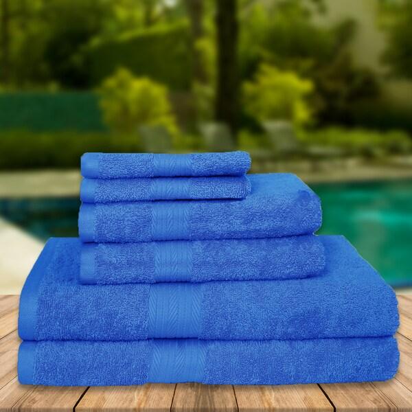 Premium Luxury Soft High Absobent Cotton 6-Piece Towel Set (2-bath, 2-hand, 2-wash)