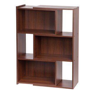 Iris Dark Brown Wood 42-inch Expandable Bookcase