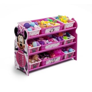 Disney Minnie Mouse 9 Bin Plastic Toy Organizer