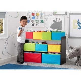 Delta Children Deluxe Multi Bin Toy Organizer With Storage Bins, Dark  Chocolate/Primary