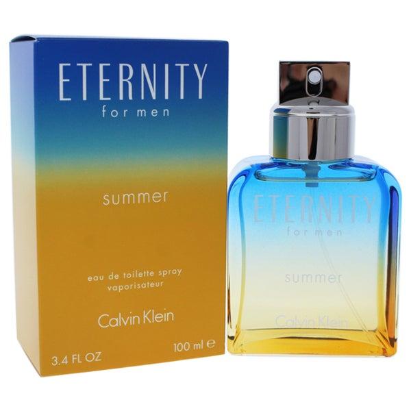 Shop Calvin Klein Eternity Summer Men s 3.4-ounce Eau de Toilette Spray  (2017 Edition) - Free Shipping On Orders Over  45 - Overstock - 17158967 8e894a29086