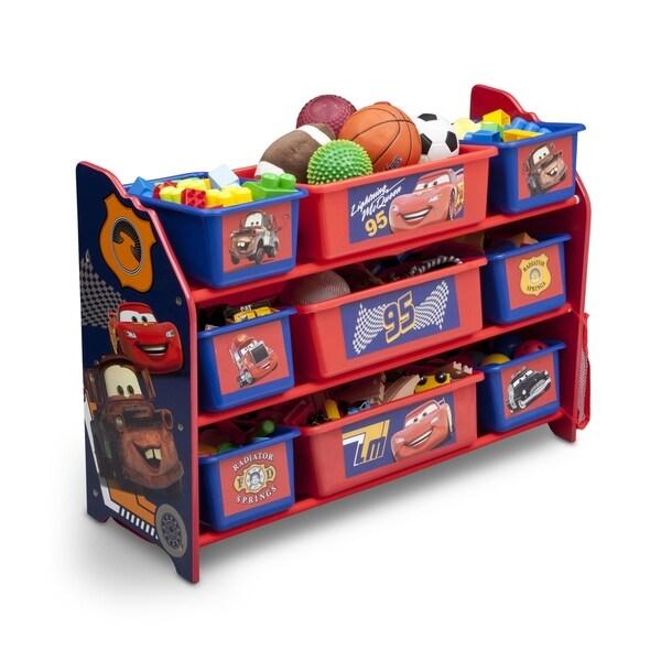 Disney/Pixar Cars 9 Bin Plastic Toy Organizer  sc 1 st  Overstock.com & Disney/Pixar Cars 9 Bin Plastic Toy Organizer - Free Shipping Today ...