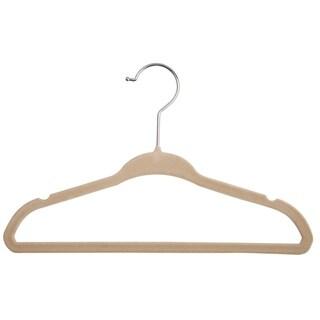 Delta Children Velvet Infant and Toddler Hangers - 50 Pack, Beige