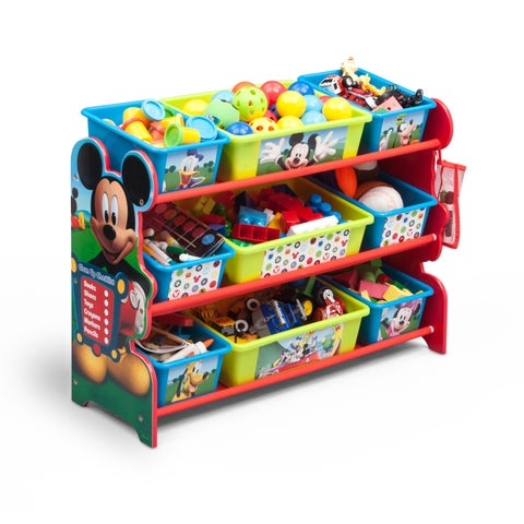 Disney Mickey Mouse 9 Bin Plastic Toy Organizer