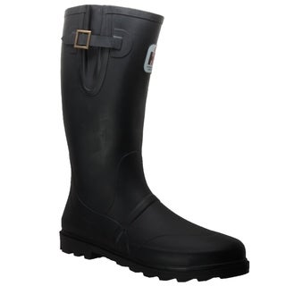 Men's Expandable Calf Rubber Boot Black