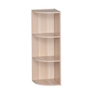 IRIS 3-tier Light Brown Corner Curved Shelf Organizer