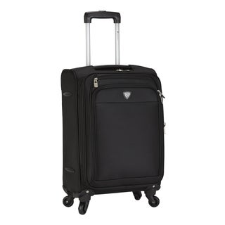 Travelers Club Monterey 18-inch Expandable Carry On Spinner Suitcase
