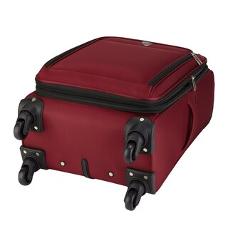 Travelers Club Monterey 18-inch Expandable Carry On Spinner Suitcase (Option: Red)