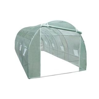 ALEKO 10X20X6 Feet Spacious Waterproof Poly-Tunnel Walk In Greenhouse - Green