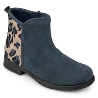 Journee Collection Kid's 'Marlow' Leopard Print Faux Suede Boots