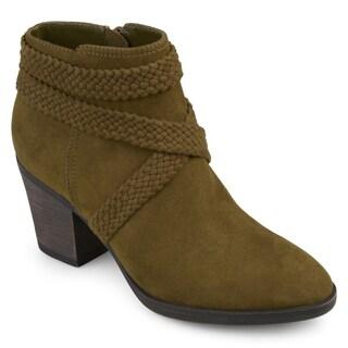 Journee Collection Women's 'Senica' Almond-toe Crisscross Strap Booties