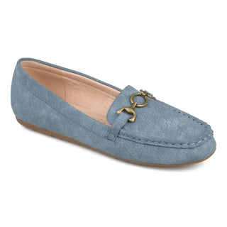 Journee Collection Womens Embry Comfort-sole Chain Accent Driving Loafers