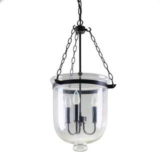 Journee Home 'Essex' Iron Glass 14-inch Hard Wired Chandelier