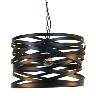 Journee Home Dramman Black Iron 20-inch Hardwired Chandelier