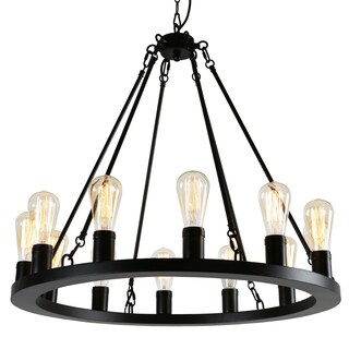 Journee Home Rifkin Iron 25-inch Hardwired Chandelier