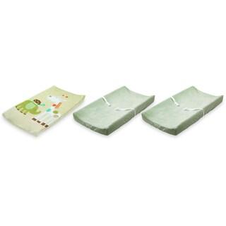 Summer Infant Ultra Plush Changing Pad Covers, 3 Pack, Sage/Safari