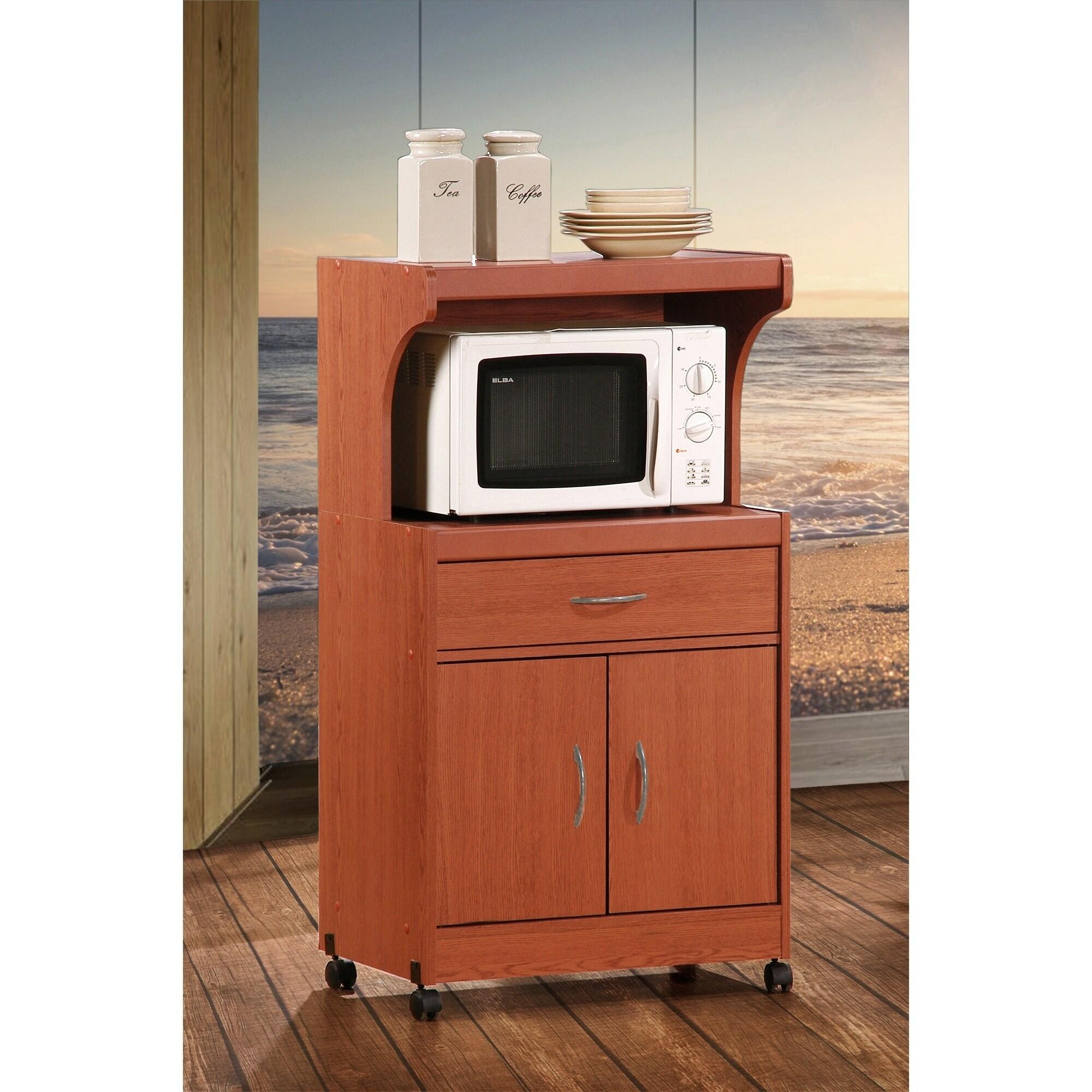 Hodedah Microwave Oven Cart (Red)