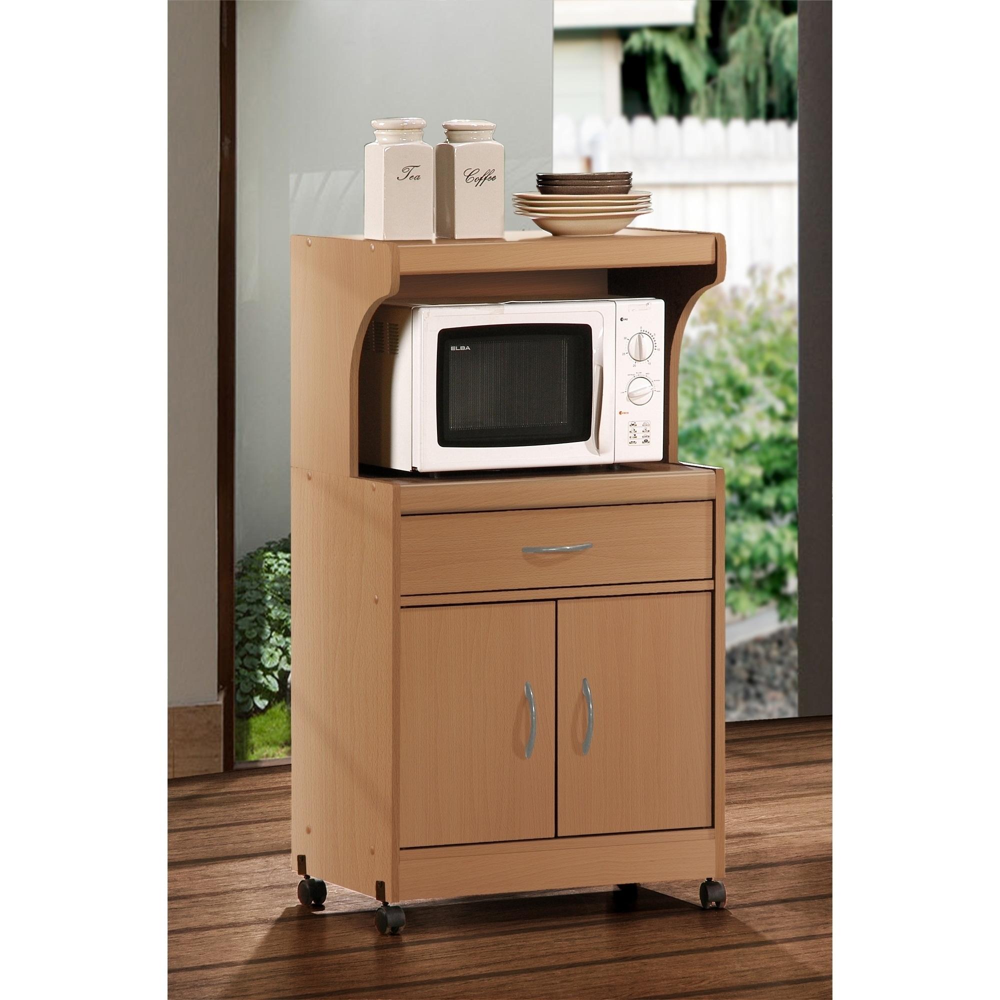 Nexera 2 Door Mobile Microwave Cart: Microwave Oven Carts