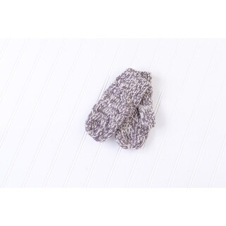 Tickled Pink Multicolored Chunky Cable Knit Mittens - Beige