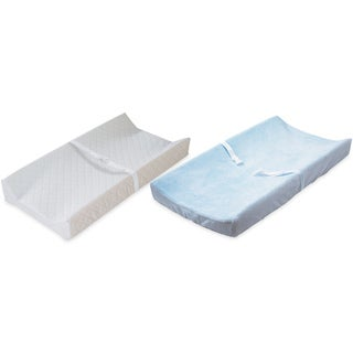 Summer Infant Contoured Changing Pad with Plush Changing Pad Cover, Blue