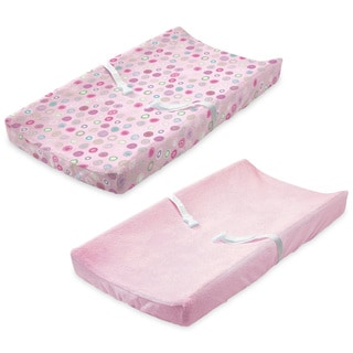 Summer Infant Ultra Plush Change Pad Cover, Pink/Swirl, 2 Count