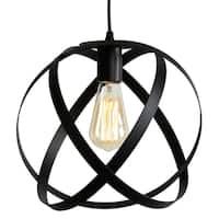 Journee Home Colmar Iron 12-inch Hard-wired Edision Bulb Pendant Lamp