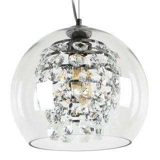 Journee Home 'Hanover' Glass 12-inch Hardwired Pendant Lamp