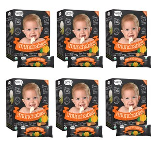 Nosh Baby Munchables Organic Rice Teething Wafers - 26 Piece - Sweet Potato & Pumpkin (Pack of 6)