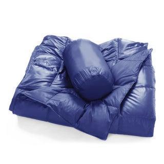 Packable Oversized Down Throw With Slumber Pouch