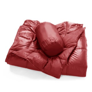 Packable Oversized Down Throw With Slumber Pouch (Option: Red)