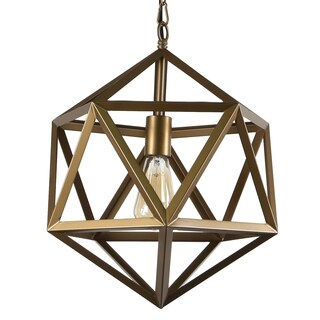 Journee Collection 'Lancaster' Iron 16-inch Hardwired Edison Bulb Pendant Lamp (2 options available)
