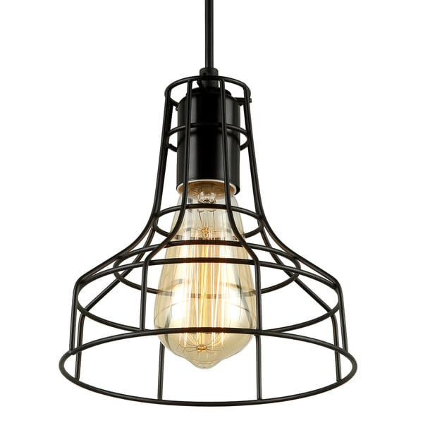 Journee Home \'Blackpool\' Iron 7-in Hard Wired Edison Bulb Included ...