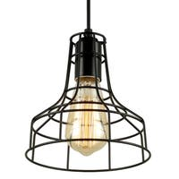 Journee Home 'Blackpool' Iron 7-in Hard Wired Edison Bulb Included Pendant Lamp