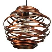 Journee Collection Amalfi Iron 12-inch Hardwired Pendant Lamp