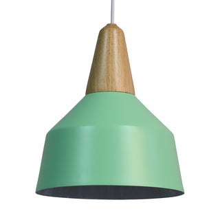 Journee Home 'Tilton' Iron Wood 12-in Hard Wired Pendant Lamp