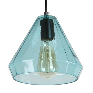 Journee Home 'Alcott' Glass 7-in Hard Wired Edison Bulb Included Pendant Lamp (3 options available)