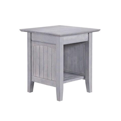 Nantucket End Table Driftwood Grey