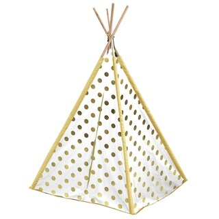 Gold Metallic Dots Kids TeePee Tent