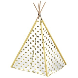 Gold Metallic Dots Kids TeePee Tent