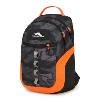 High Sierra Opie Black and Electric Orange Kamo 18.5-inch Backpack