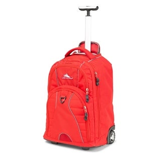 High Sierra Freewheel Crimson 20-inch Wheeled Backpack with Teloscoping Handle