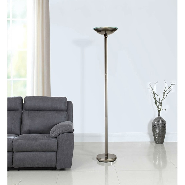 Artiva USA Saturn Brushed Black Steel 71-inch LED Floor Lamp with Dimmer