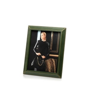 "8"" x 10"" Leather Picture Frame, Green"