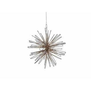 Hanging Christmas Ornament, 3D Spike Rounded Petal Rays (Set of 6)