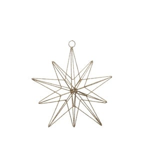 10 Point Star Christmas Ornament, Short & Long Rays (Set of 6)